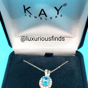 Blue topaz & white sapphire necklace // OBO